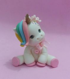 I love unicorn so much. So there are my ideas about unicorn Fondant Figures, Fondant Cake Toppers, Cupcake Cakes, Fondant Cupcakes, Cupcake Toppers, Unicorn Birthday Parties, Unicorn Party, Unicorn Cookies, Polymer Clay Ornaments