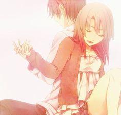 cute anime couple   anime, boy & girl, couples, cute, kawaii - inspiring picture on Favim ...