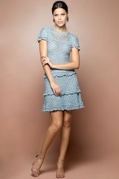 Sky Marchesi Crochet Dress - Vanessa Montoro USA - vanessamontorolojausa