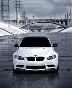 White BMW with Black Features