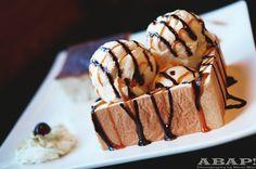 gastronomyfiles: Caramel Brick Toast - Factory Tea Bar, San Gabriel, CA (by AsBallinAsPossible! Brick Toast, San Gabriel, Sweet Desserts, Food Cravings, Coffee Drinks, Real Food Recipes, A Food, Waffles, Deserts