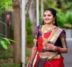 Bridal Silk Saree, Silk Sarees, Half Saree Designs, Sari, Earrings, Jewelry, Fashion, Saree, Ear Rings