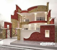 House Outside Design, House Front Design, Cool House Designs, Modern House Design, House Plans Mansion, Dream House Plans, Modern House Plans, Kerala House Design, Bungalow House Design