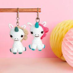 PATTERN: Crochet Unicorn (PDF file)- amigurumi unicorn, crochet pattern unicorn, stuffed unicorn, gift for girls, rainbow unicorn Cool Keychains, Cute Keychain, Key Keychain, Crochet Unicorn, Hand Crochet, Crochet Penguin, Diy Crochet, Crochet Keychain, Unicorn Gifts