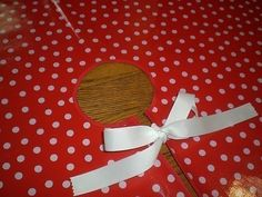 Oilcloth Christmas Tree Skirts in white dots on red by modernjune, $35.00