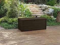 Keter-Peyton-Brown-Wood-Effect-454L-Plastic-Garden-Storage-Box