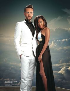 Tom Mison and Nicole Beharie Emmy magazine - June 2014 - photo by Florian Schneider in Los Angeles Florian Schneider, Sleepy Hollow Cast, John Noble, Tom Mison, Prom Photos, Bwwm, Interracial Couples, Queen, Jimi Hendrix