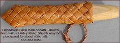 Woven Birch Bark Knife Sheath - Pinewood Forge Catalog
