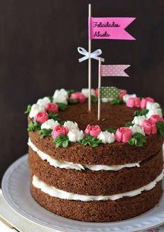 Matcha tea and nettle cake - HQ Recipes Cake Icing, Buttercream Cake, Eat Cake, Bolos Naked Cake, Naked Cakes, Fancy Cakes, Mini Cakes, Cupcake Cakes, Bolo Cake