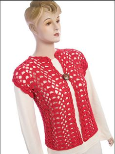 Easy Crochet Jacket By Sue Childress - Free Crochet Pattern With Website Registration - (free-crochet)