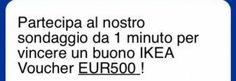 Truffa: falso buono IKEA da 500 euro con Whatsapp