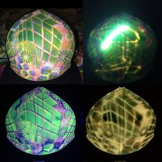Certifed Hyphy Custom Painted Glow in the Dark Size 7 3/8 Hat includes free mini black light