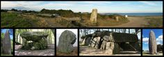 cairns mégalithiques  (cairn = écossais : tas de pierres)