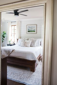 white and grey master bedroom, one room challenge, master bedroom reveal