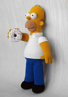 crocheted Homer Simpson
