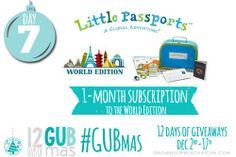 12 Days of GUBmas: Day Seven- Little Passports Giveaway #gubmas