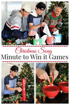 Christmas Song Inspired Minute to Win it Games – Fun-Squared