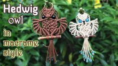 Macrame owl tutorial - The beautiful Hedwig of Harry Potter - Step by st...
