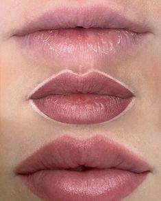 Lip Permanent Makeup, Lip Makeup, Makeup Tips, Beauty Makeup, Lip Color Tattoo, Lip Liner Tattoo, Lipstick Tattoos, Makeup Tattoos, Natural Lip Colors