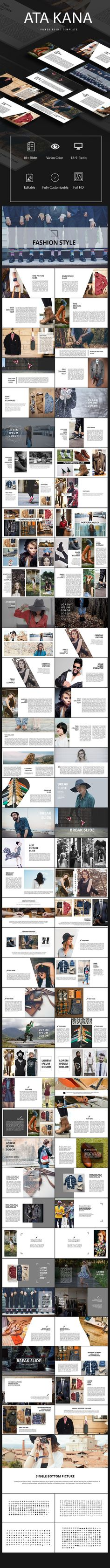Fashion Power Point Template  #minimal #social media • Download ➝ https://graphicriver.net/item/fashion-power-point-template/18246447?ref=pxcr