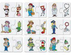 Dino Baby puzzle profese 2 x 9 dílků Activities For 2 Year Olds, Preschool Learning Activities, Preschool Education, Preschool Worksheets, Infant Activities, Community Workers, Community Helpers, Die Dinos Baby, Diy And Crafts