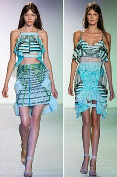 Peter Pilotto - Spring 2014--Love all this pieces, so flirty and the colors are divine