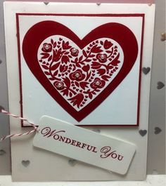 Flowerfull Heart by reaney - Cards and Paper Crafts at Splitcoaststampers