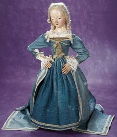 """Theriault's - 23"""" Early 18th Century Wooden Carved Doll"""