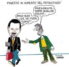 Franco Loriso e la sua satira su Onda Lucana (si ringrazia per la cortese concessione)