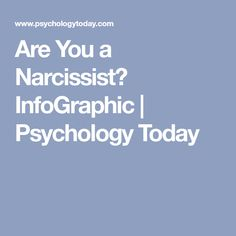 Are You a Narcissist? InfoGraphic | Psychology Today