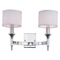Fairmont Polished Nickel Two Light Wall Sconce
