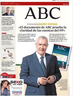 Los Titulares y Portadas de Noticias Destacadas Españolas del 4 de Febrero de 2013 del Diario ABC ¿Que le parecio esta Portada de este Diario Español?