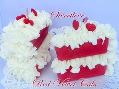 Red Velvet Cake Candle by SweetloveCandles on Etsy, $14.99