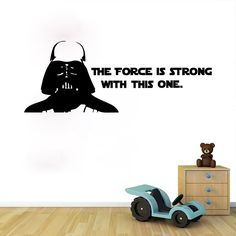 Star Wars Master Personalized Name Wall Art Sticker Decal Home DIY Decoration