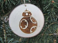 Christmas Ornament Star Wars Ornaments by RedPineEngraving Wooden Christmas Decorations, Painted Christmas Ornaments, Christmas Crafts, Christmas Bulbs, Holiday Decor, Star Wars Christmas Tree, Wood Burning Patterns, Painting On Wood, Stars
