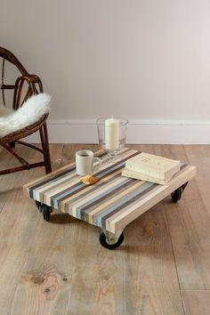 L'objectif : réaliser une table basse pas chère très déco