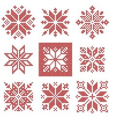 New Pic xmas Cross Stitch Ideas cross stitch snowflake pattern gift idea christmas xmas red Cross Stitch Christmas Ornaments, Xmas Cross Stitch, Cross Stitch Borders, Cross Stitch Alphabet, Modern Cross Stitch Patterns, Cross Stitching, Cross Stitch Embroidery, Snowflake Ornaments, Christmas Embroidery Patterns