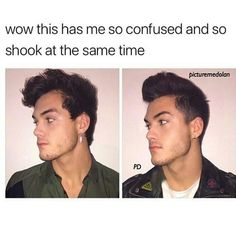 I know .. The right one is Gray and left one is Ethan .....he just wore Gray's earring