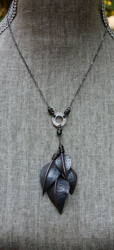 new fold formed leaf necklace....more over at my blog: