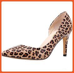 LOVEBEAUTY Women's Fashion Candy Color Mid Heel Pumps Shoes Leopard US 10 - Pumps for women (*Amazon Partner-Link)