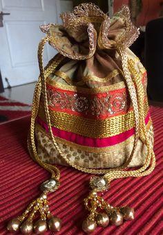Gold Zari Potli Bag