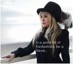 Stevie Nicks with MANY filters!  Right on! Be a Stevie...classy, artistic, talent, REAL beauty, creative, the list could go on and on....
