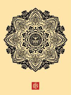 Mandala Ornament 1 Cream - OBEY GIANT
