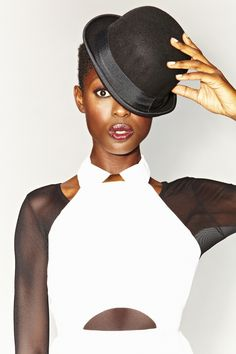 Claudia Peplum Top, Exposed Mesh Dress, Mikhail Oxford - bowler hat coming soon! Nasty Gal