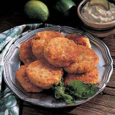Catfish Cakes -- I used cornflakes instead of cracker crumbs since I didn't have crackers on hand; this is a decent little meal