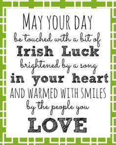 St. Patricks Day Quote | Hermosa Jewelry Blog | #irishluck #lucky #stpatricksday