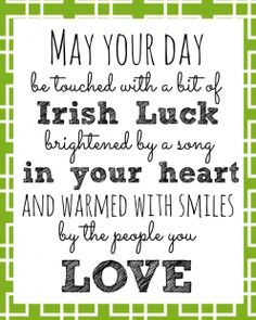 St. Patricks Day Quote | Hermosa Jewelry Blog | #irishluck #lucky #stpatricksday