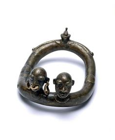 Ivory Coast - Anklet from the Senufo people  Bronze alloy; ca. 1970 or earlier