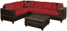 #donations Bobkona Sectional in Red Color