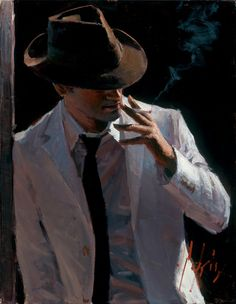 Fábian Pérez - Marcus with Hat and Cigarette